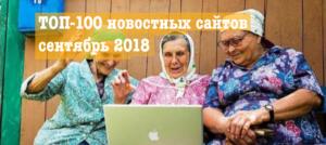 ТОП-100 новостных сайтов в Украине, сентябрь 2018